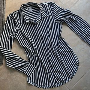 H&M Button-up Striped Blouse